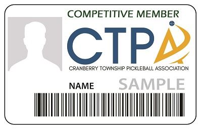 Pickleball Competitive ID Card