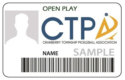 Pickleball Open Play ID Card
