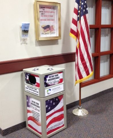 Retire Old Glory collection bin